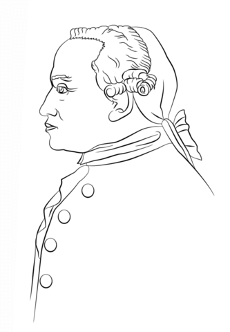 Immanuel Kant Coloring page History