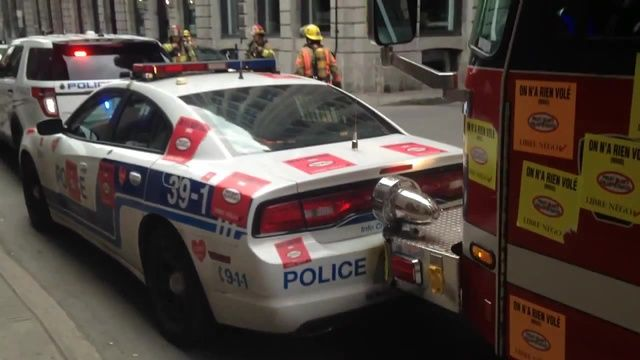 Fire Truck Smashes Wrongly Parked Police Cars In Montreal | Fire trucks, Police cars, Trucks