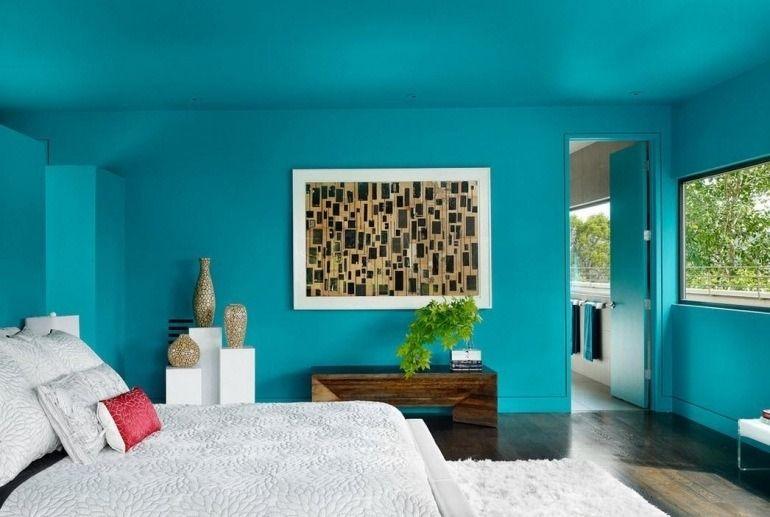 D corer les murs d une peinture turquoise 38 id es d t - Choisir sa peinture murale ...