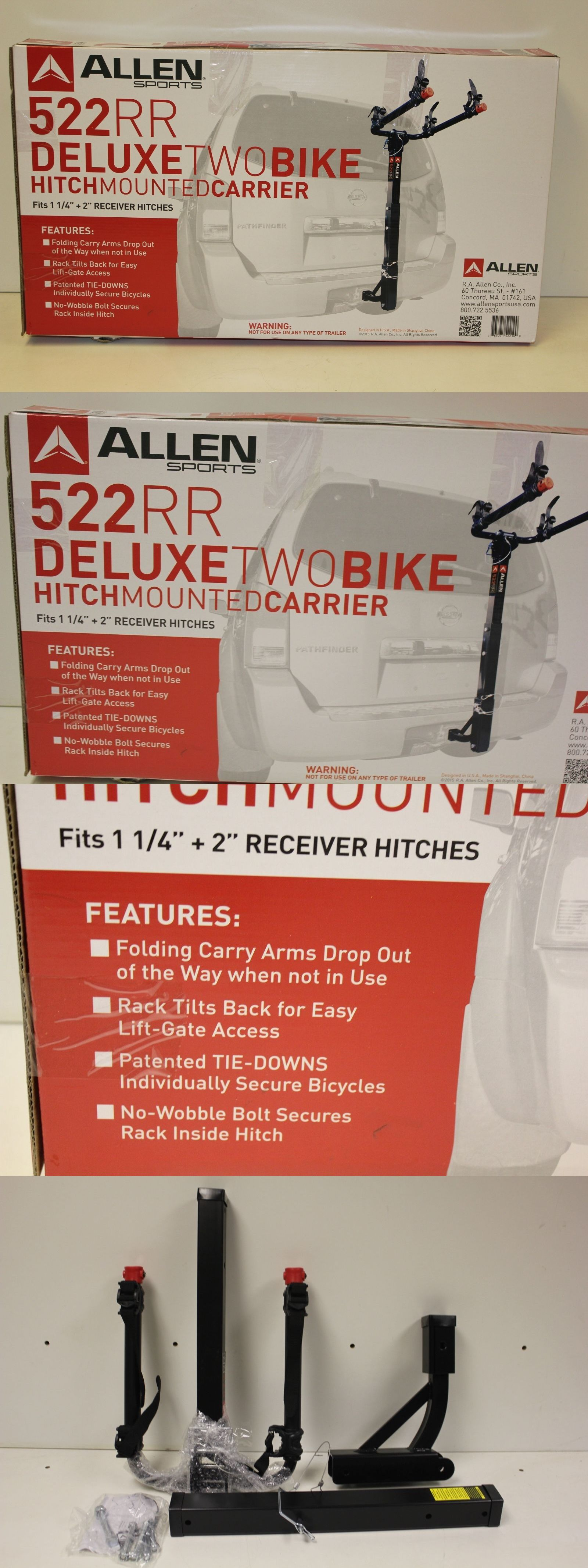 Car and Truck Racks 177849: Allen Sports 522Rr Deluxe 2- Bike Hitch Mounted Bike Rack 11 4 2 Hitch New -> BUY IT NOW ONLY: $97.99 on eBay!