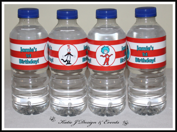 Cute Water Bottle Decorating Ideas Unique Shop Online Personalised Dr Seuss Cat In The Hat Party Decorations Design Inspiration