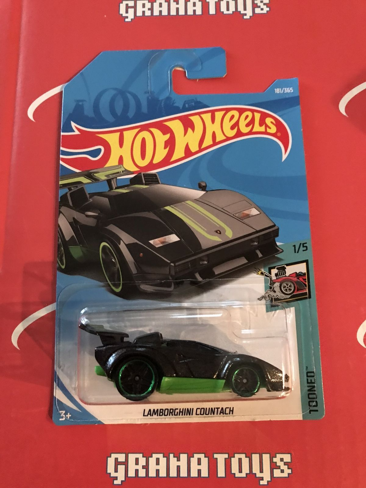 2018 Hot Wheels 2015 Ford Mustang Gt White Hw Speed Graph Hotwheels Toyota Ae 86 Corolla Red Lamborghini Countach 181 Black Green Tooned Case H