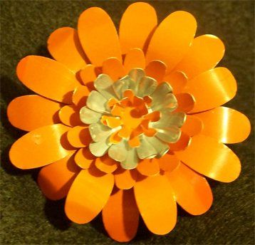 Endless possibilities for you to create an original flower with recycled soda cans!!