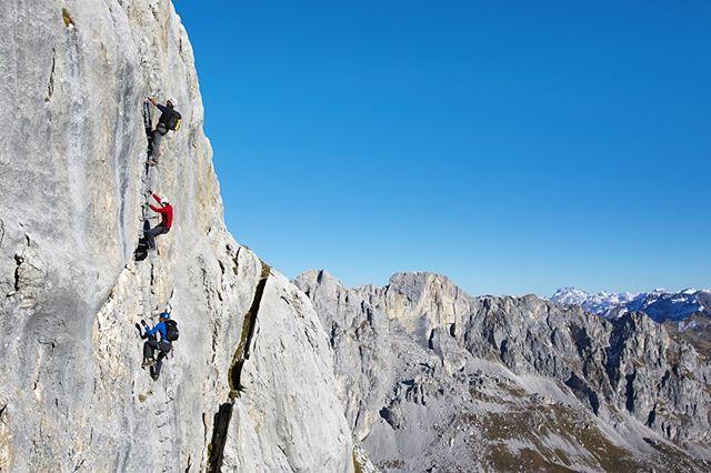 Klettersteig Graubünden : Von der alm in den fels: am sulzfluh klettersteig zwischen