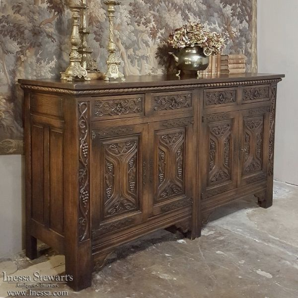 Antique Furniture   Antique Buffets and Sideboards   Renaissance Gothic  Buffets   Antique French Renaissance. Antique Furniture   Antique Buffets and Sideboards   Renaissance