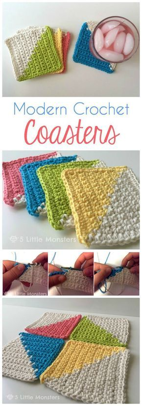 70 Easy Free Crochet Coaster Patterns For Beginners Pinterest