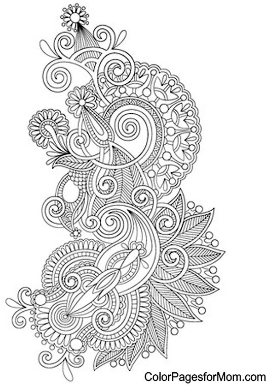 Paisley Coloring Page Mandalas Pinterest Adult coloring - new advanced coloring pages pinterest