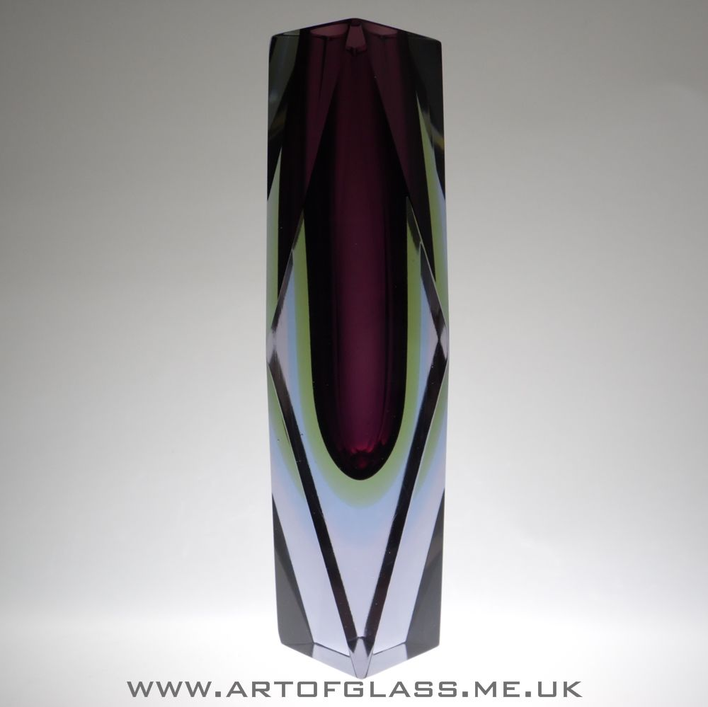 105 tall murano sommerso burgundy yellow blue lilac faceted 105 tall murano sommerso burgundy yellow blue lilac faceted glass vase reviewsmspy