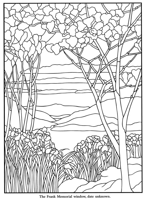 Color Your Own Tiffany Windows | vidrieras | Pinterest | Colorear ...