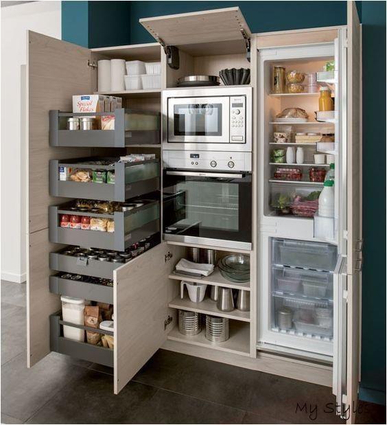 Ka Che Einrichtung Die Goldene Regel Des Aktivita Tsdreiecks Kitchen Remodel In 2020 Kitchen Appliances Best Butter French Doors