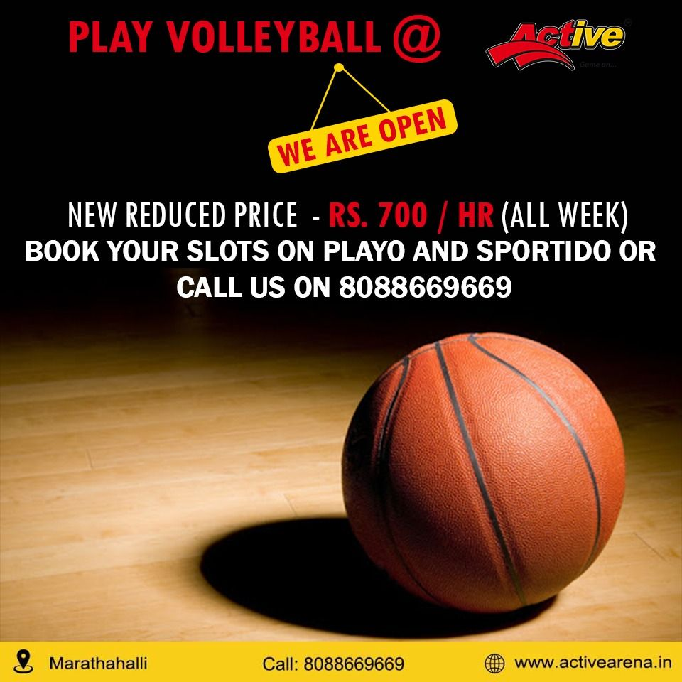 Play Your Favourite Volleyball At Active Arena With New Reduced Prices In 2020 Volleyball Play Volleyball Family Time