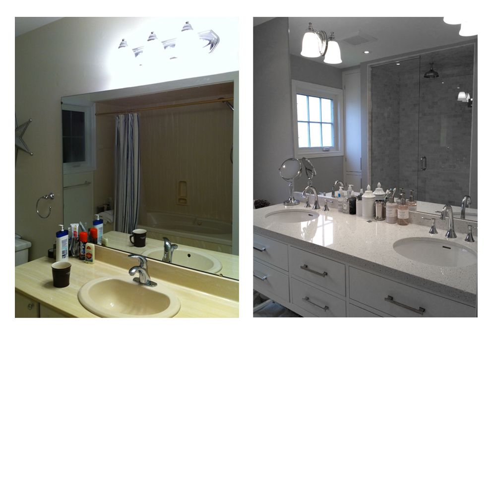 Kitchen Wall Tiles Height: Kitchen Counter Height Vanity. No Hunching!