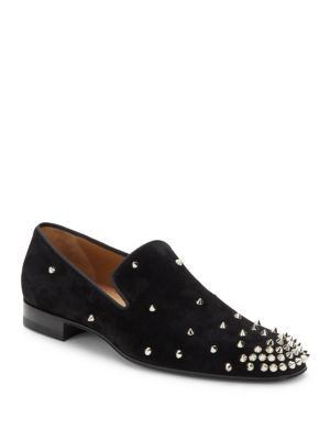 Italian Leather Studded Loafers