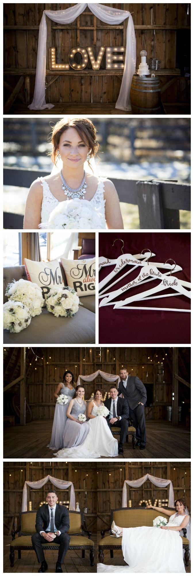 Glammed Up Barn Wedding