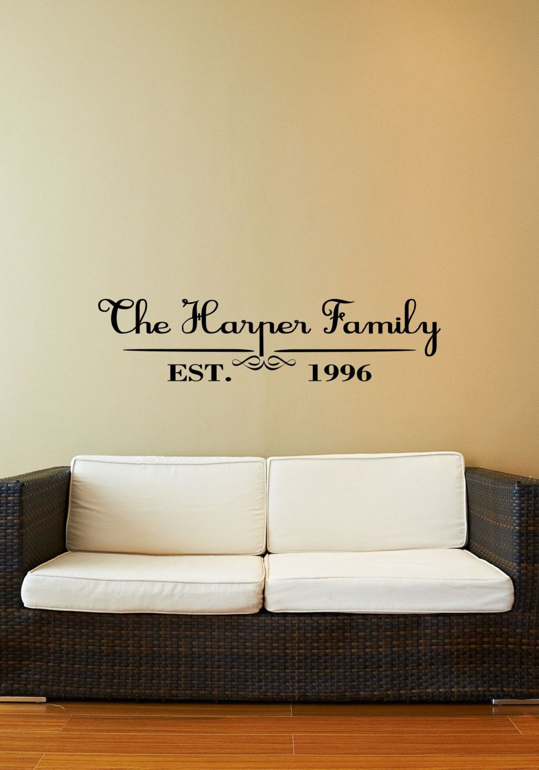 Custom Family Last Name Vinyl Decal - Family Vinyl Wall Art Decal ...