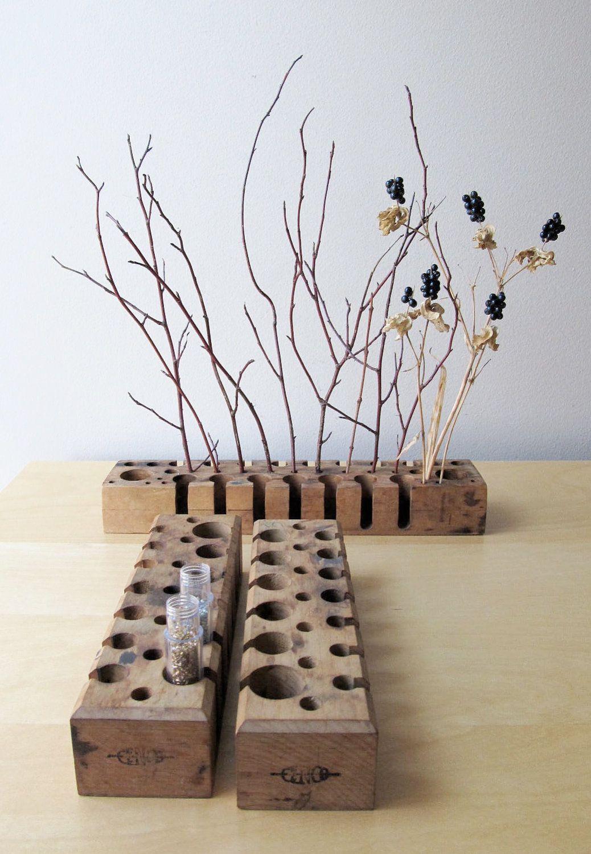 Wooden test tube rack rustic wedding decor minimalist flower wooden test tube rack rustic wedding decor minimalist flower vase 2800 via reviewsmspy