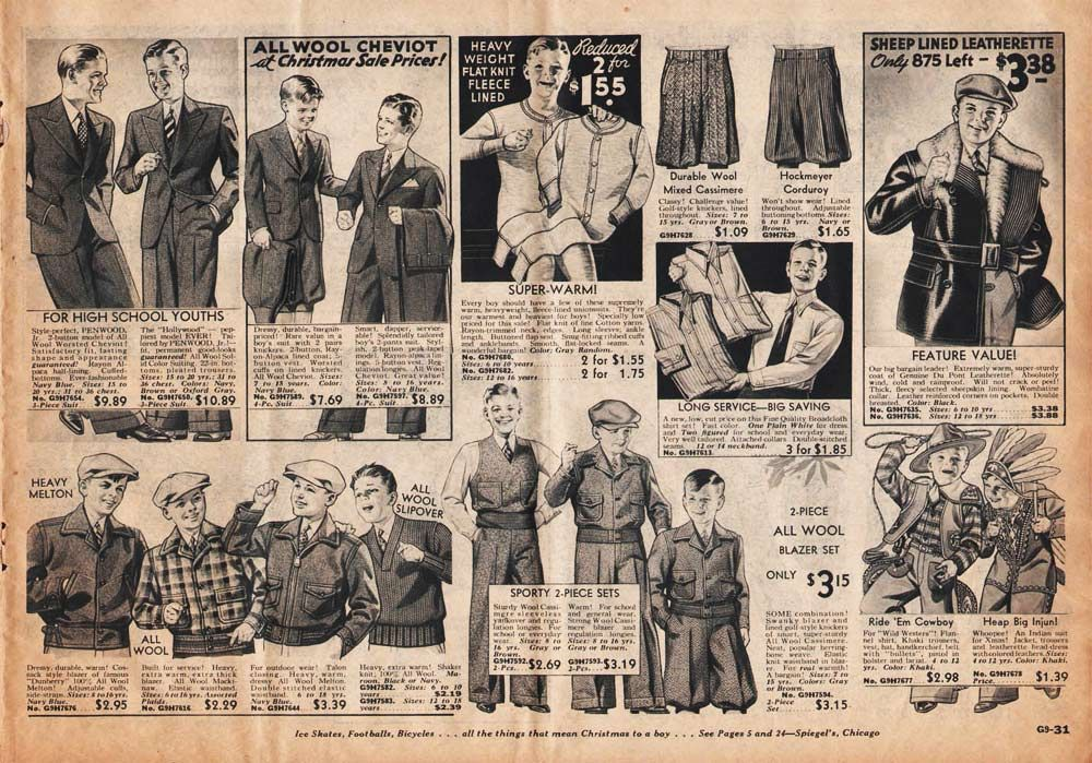 Vintage Boys Clothing Advertisement (1933) #vintageclothing #1930s #mensfashion #vintagecatalogs