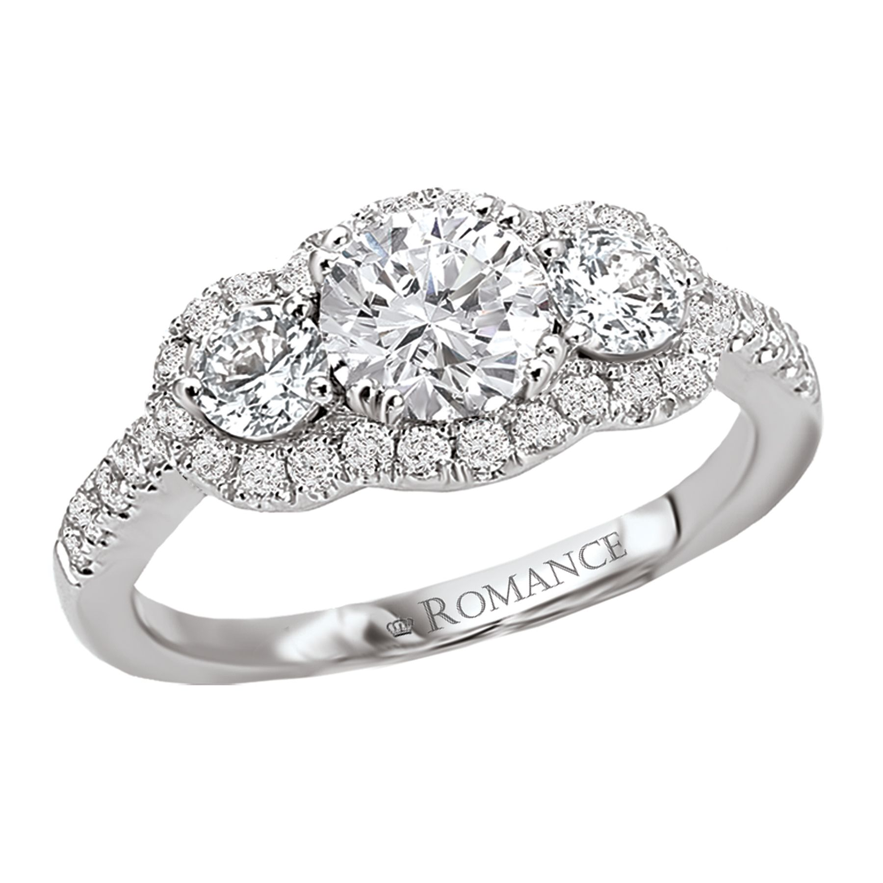 3 stone Diamond Ring romance collection Three stone