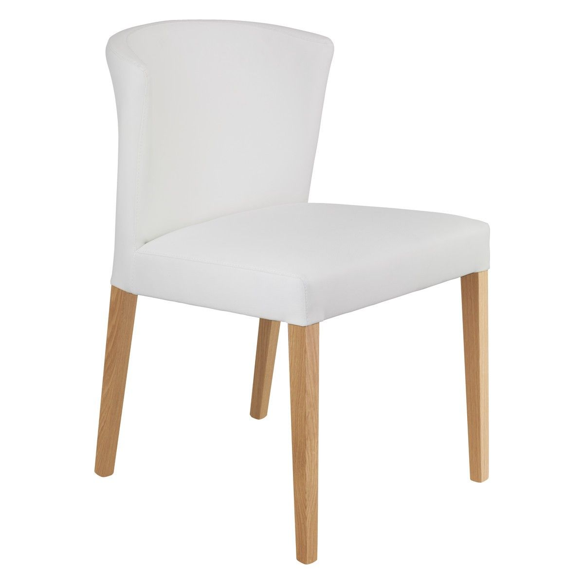 valentina white faux leather dining chair with oak legs dining chairs traditional chairs and. Black Bedroom Furniture Sets. Home Design Ideas