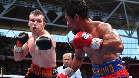 "Jeff Horn took the title with a unanimous points win in Brisbane  Former  welterweight champion Manny Pacquiao's controversial loss to Jeff Horn  has been rescored by WBO judges - who reached the same result.  Pacquiao was unanimously outpointed in Brisbane last week as 29-year-old Horn won his first world title. The Filipino 38 urged governing body the WBO to review an ""unfair decision and officiating"". It asked five judges to analyse the fight and they found ""Pacquiao won five rounds while Hor"