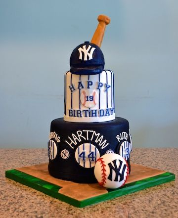 Yankees Baseball Birthday Cake Birthday Cakes Pinterest