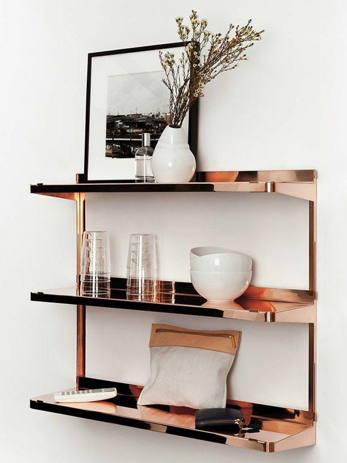 tmsjust4u: Home 2017 Copper Shelving. Source Bertrand - archzine.fr