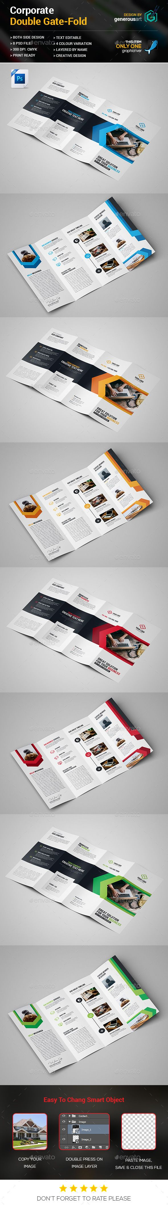 double gate fold brochure templates pinterest brochure