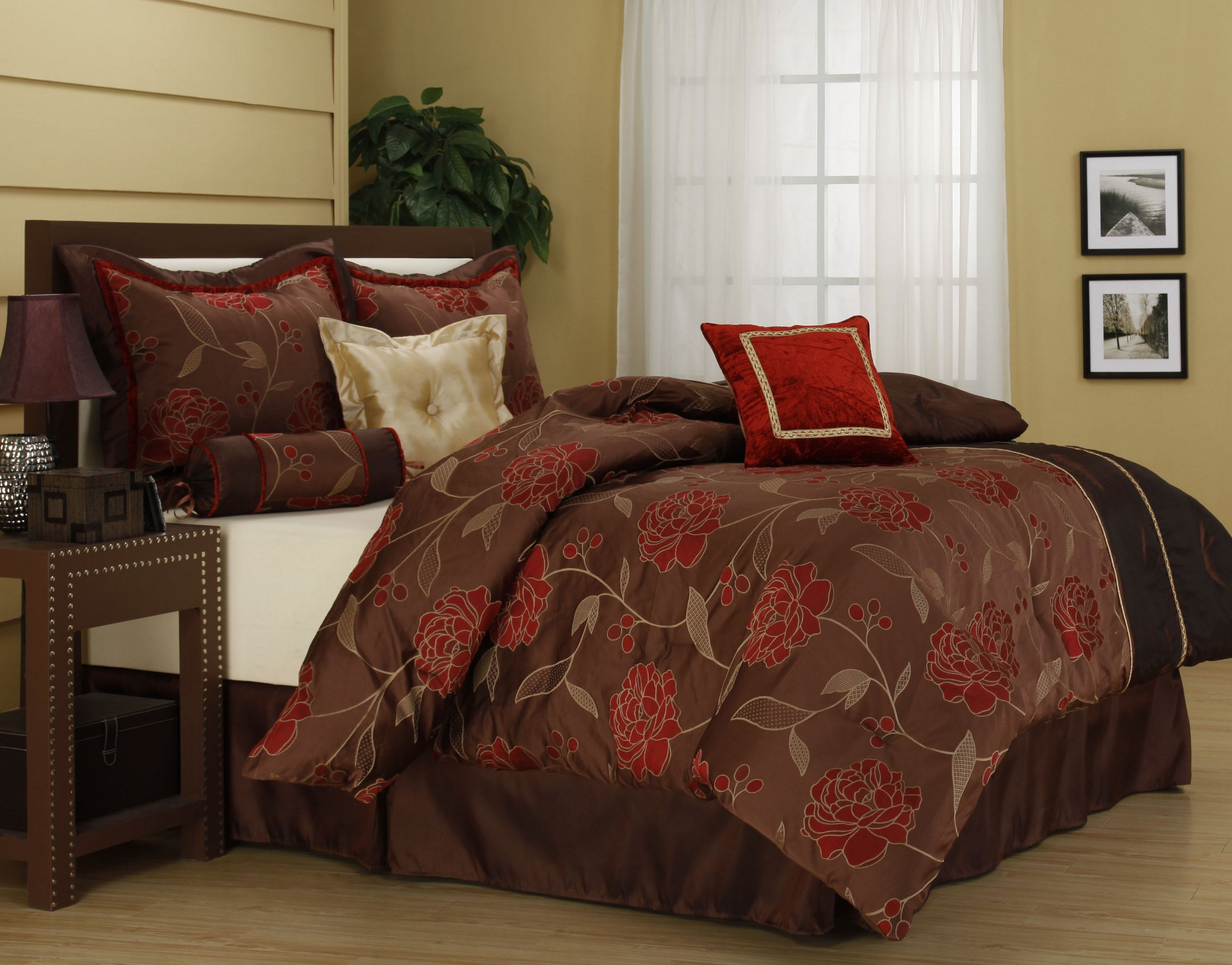 bed bedding queen brown white bedspreads bedroom blue comforter and king sets comforters black set full navy grey red