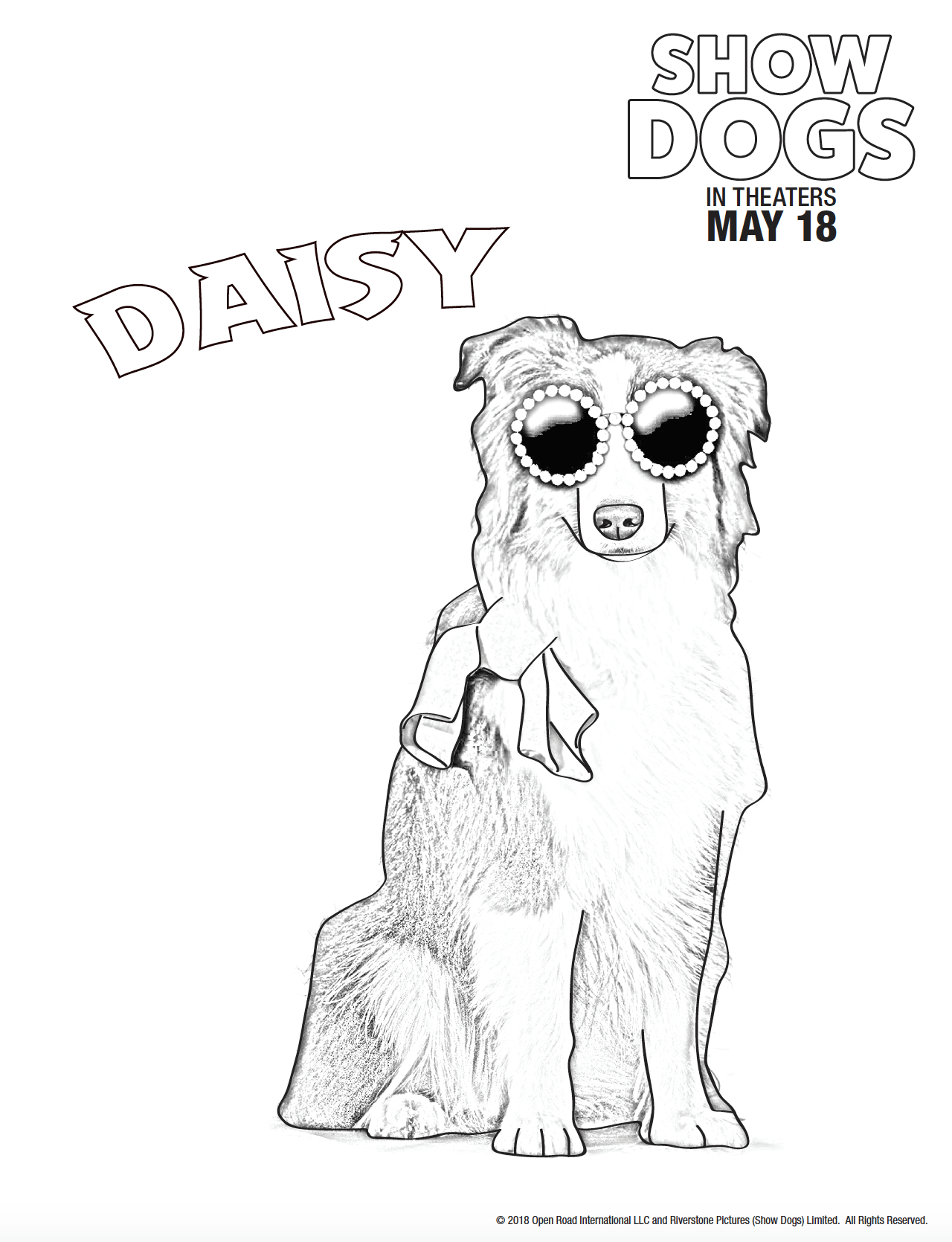 Free coloring pages for the show dogs movie dog coloring pages for kids ladyandtheblog