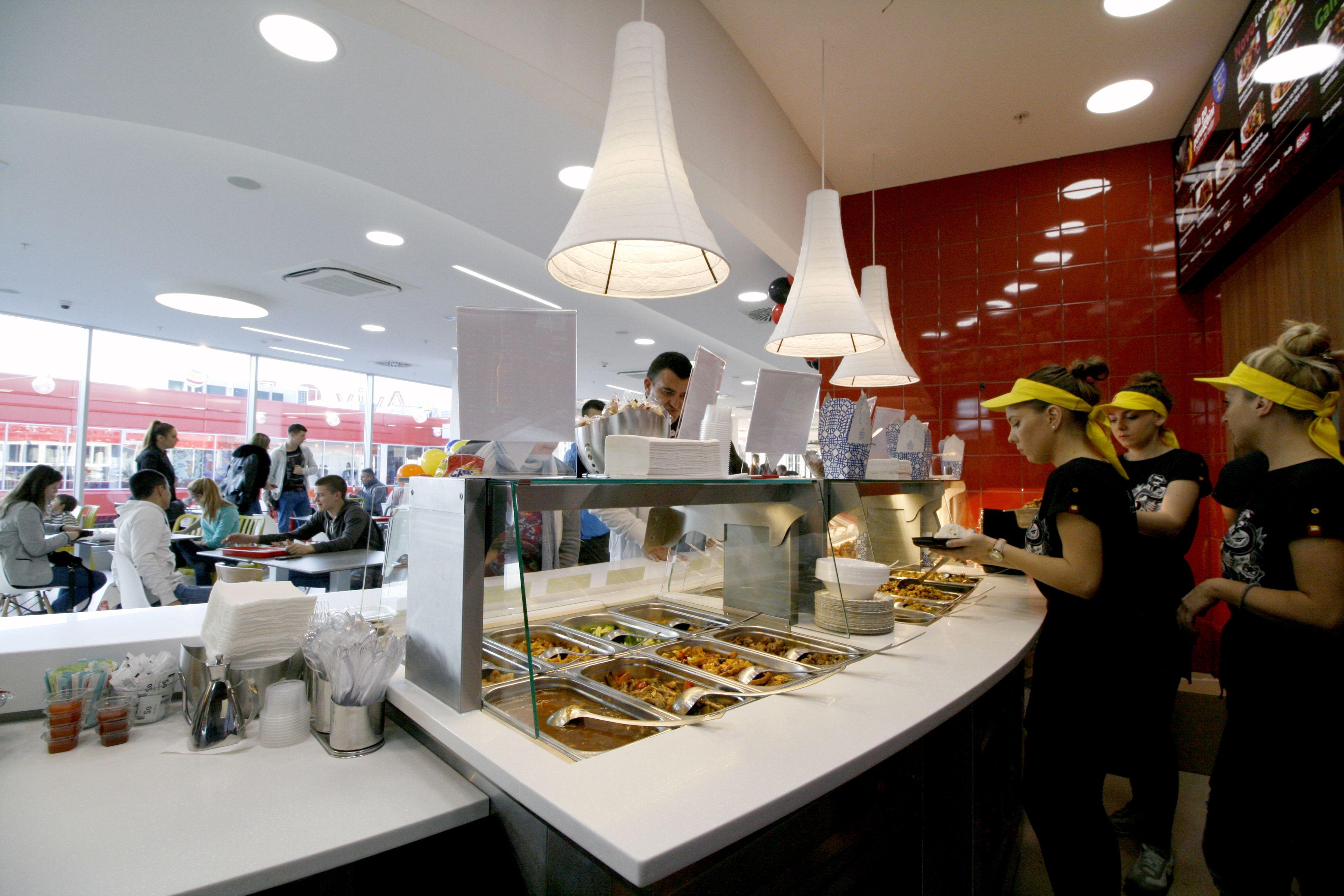 Fast Food Interior Design Chinese Restaurant Emo Biro Serbia
