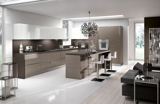 salon w jasnych barwach Salon Pinterest Salons - plana küchen preise