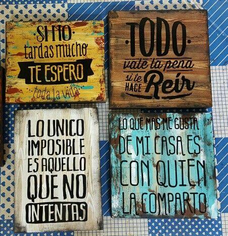 Cuadros Decorativos Letreros De Madera Carteles De Madera