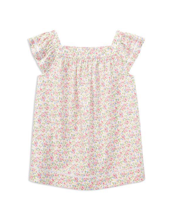 532c282207e Ralph Lauren Childrenswear Girls' Cotton Poplin Floral Top - Big Kid ...