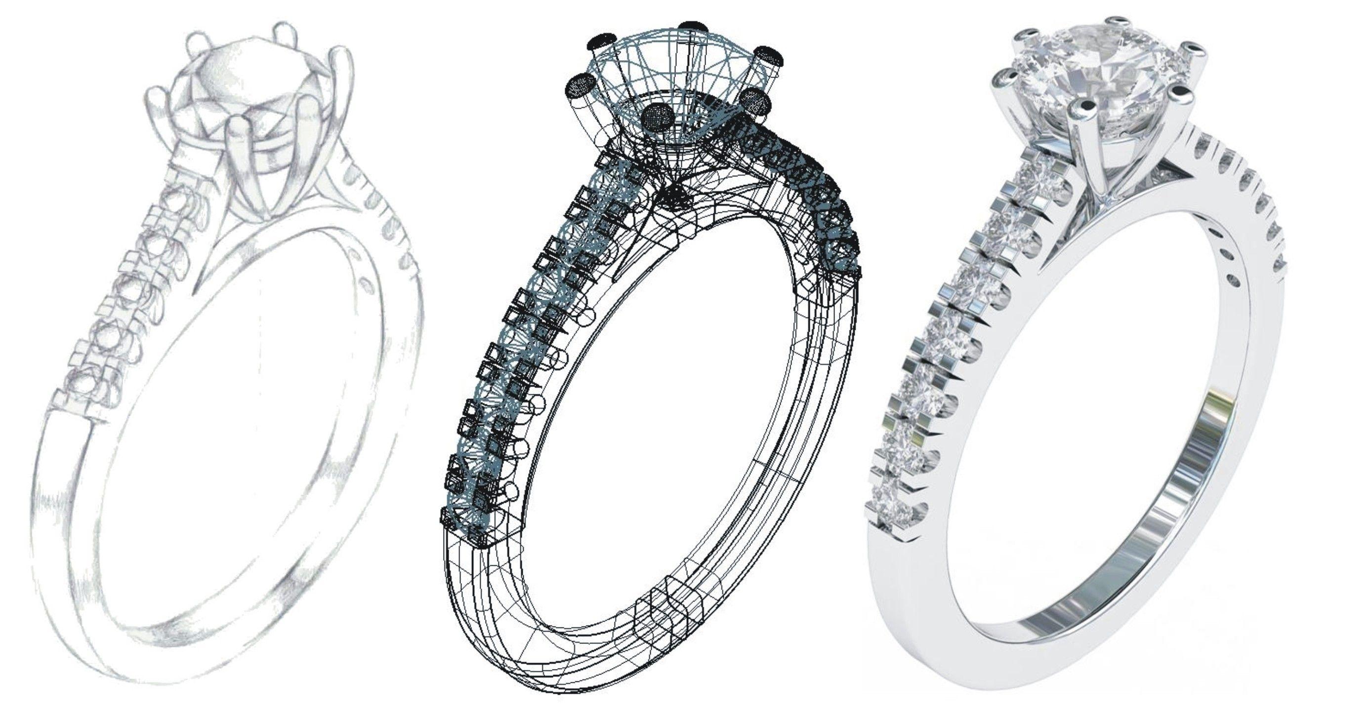 CAD engagement solitaire | CAD-CAM/3-D Printed Pieces | Pinterest ...