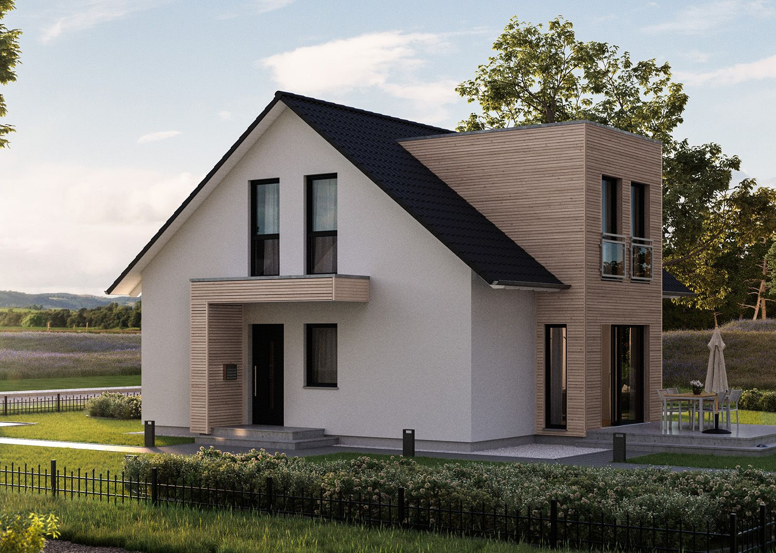 die optimale raumaufteilung und die individuelle gestaltungsm glichkeit des ausbauhauses l sst. Black Bedroom Furniture Sets. Home Design Ideas