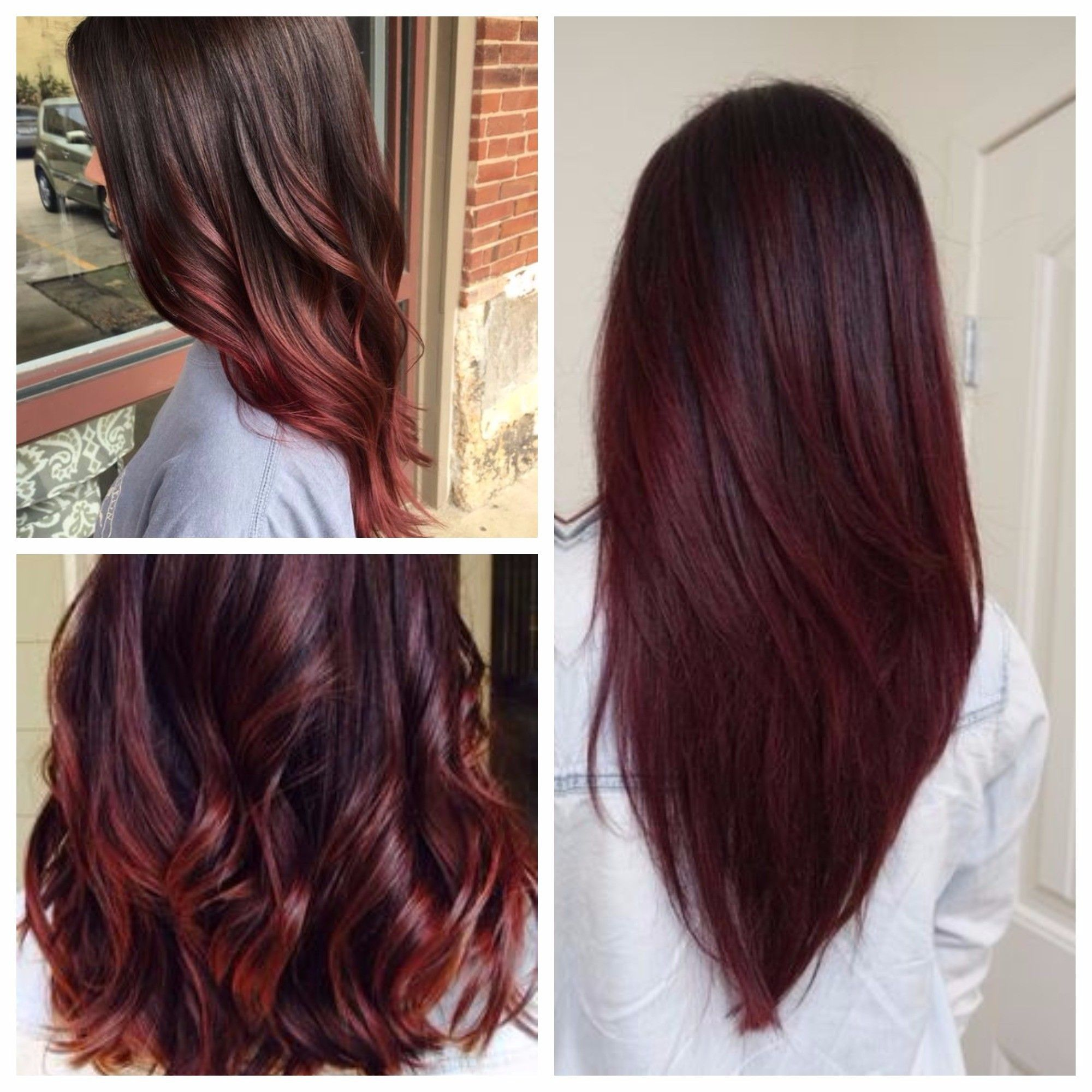 Pin By Zoey On Hair Red Ombre Hair Brunette Hair Color Cool Hair Color