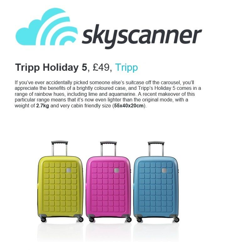 Tripp Luggage | Tripp | Pinterest | Cabin bag, Hand luggage and ...