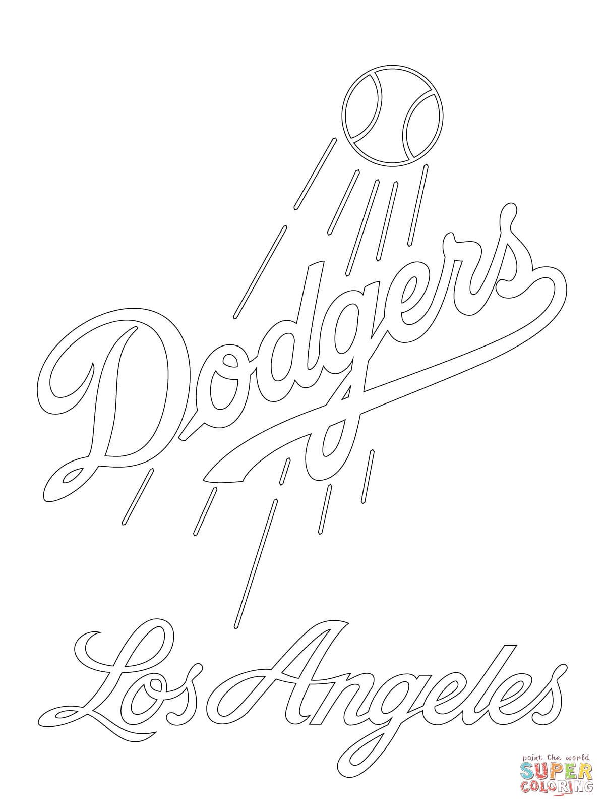 Los Angeles Dodgers Logo Super Coloring Party Ideas