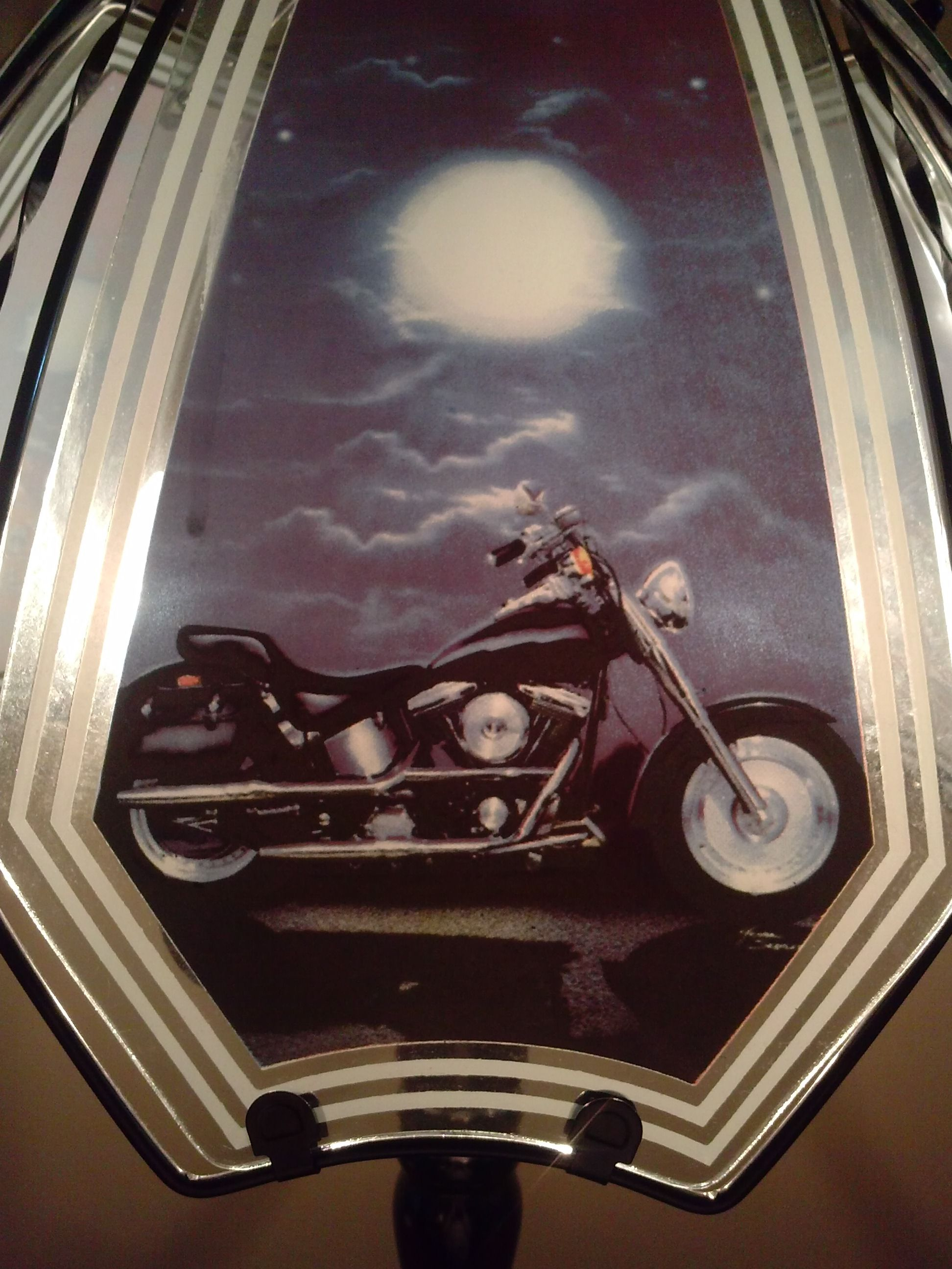 Best Lamp In The House.. My Harley Lamp #HDNaughtyList