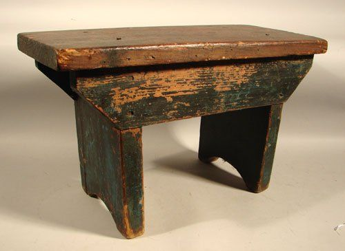 2248: G.W. Kent Country Primitive Miniature Bench. Old : Lot 2248 ...