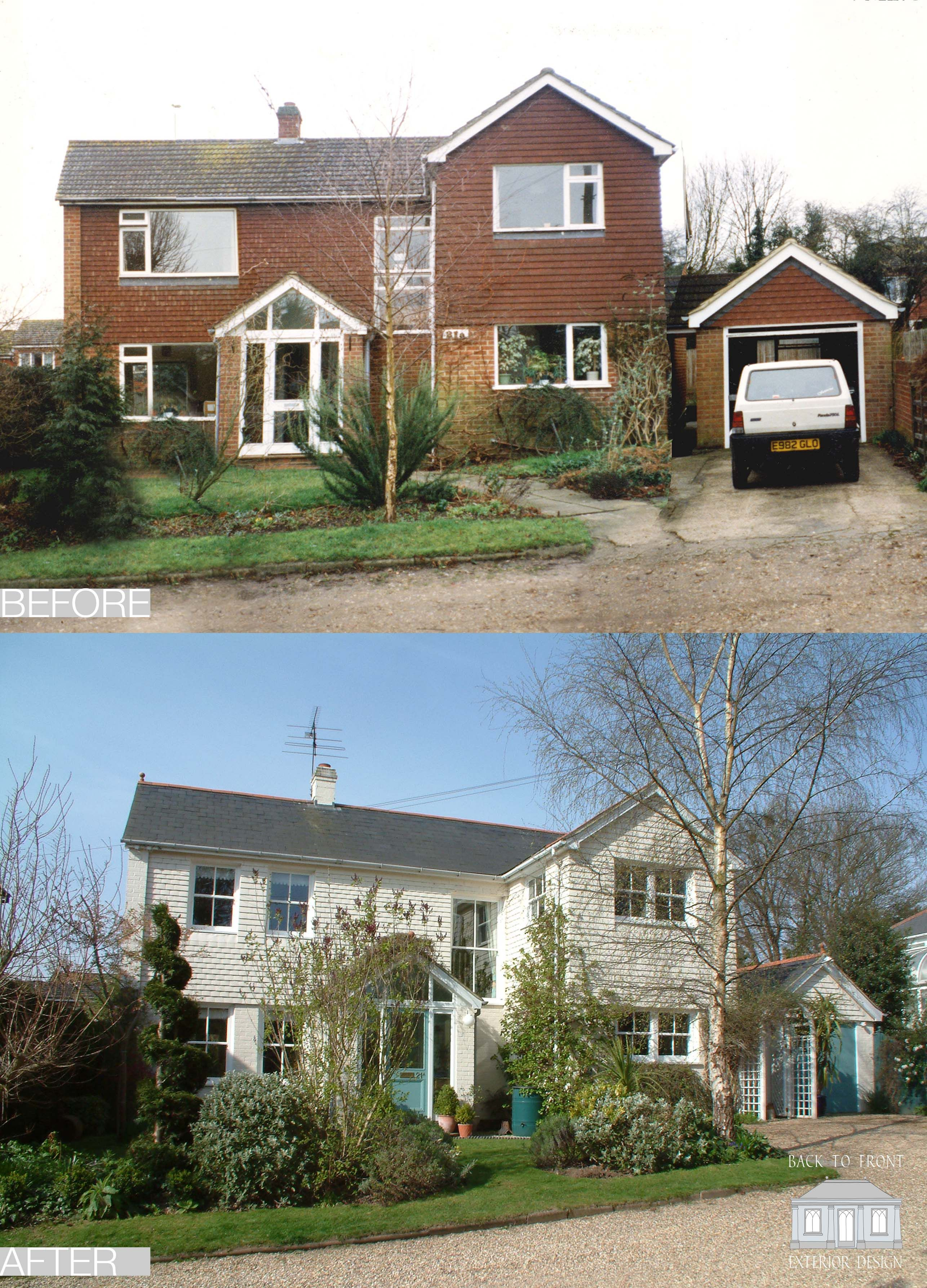 The first back to front project 1960 39 s before and after - Change the exterior of your house ...