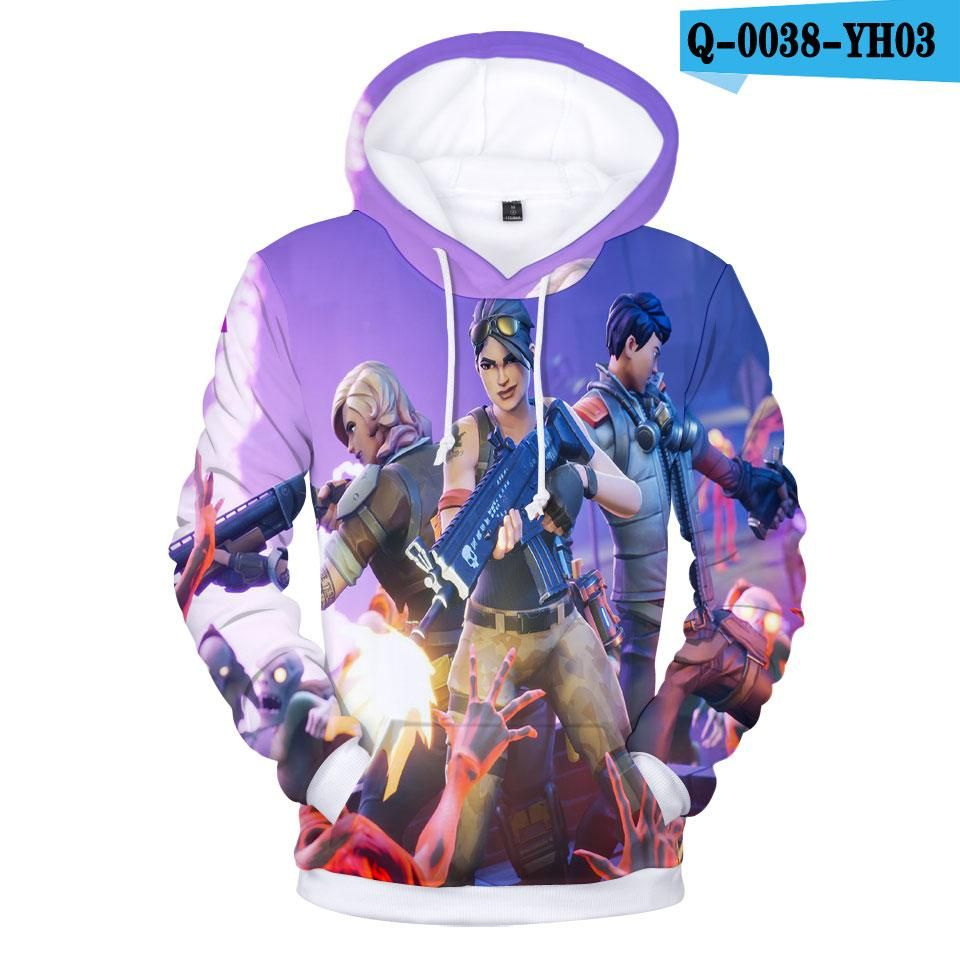Aikooki Full 3d Print Game Fortnite Hoodies Men Diy Party Ideas