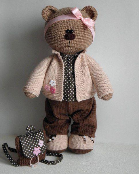 Olga Yanina | crochet | Pinterest | Patrones amigurumi, Osos y Tejido