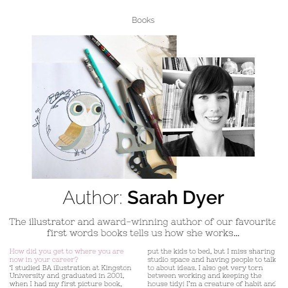 Have you read our interview with award winning author & illustrator Sarah Dyer yet?! Go to our online magazine to find out how she works and what inspires her! @sarahdyer_illustrator #childrensbooks