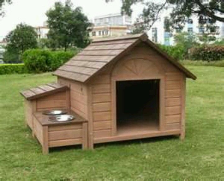 Dog House Plans DIY With Water Bowls For Summer. Just A Lot Bigger With  More Bowls And Cages In It