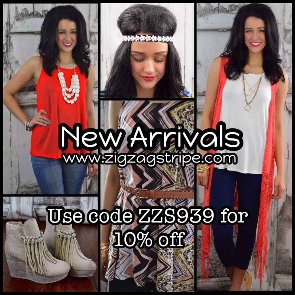 Shop the Zig Zag Stripe! Use code ZZS939 for 10% off!   http://www.zigzagstripe.com?afmc=ZZS939