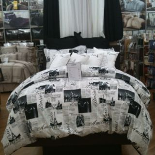 London Paris Rome And New York City Bed Set Room