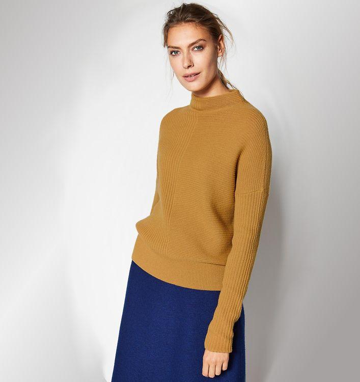 Lanius · Lanius Turtleneck Pullover aus Wolle curry