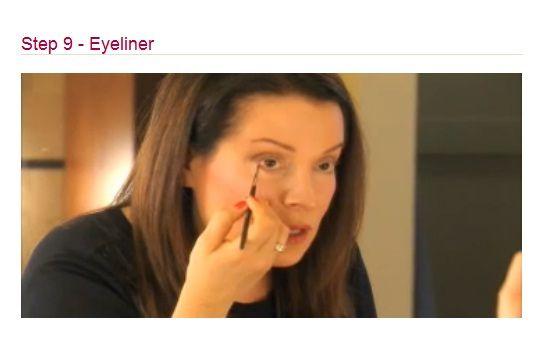 Apply eyeliner for added definition along the lash line.
