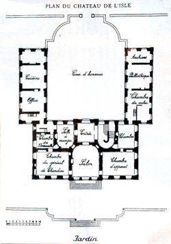 plan du ch teau de l 39 isle maps pinterest ch teau hotel particulier et plan maison. Black Bedroom Furniture Sets. Home Design Ideas